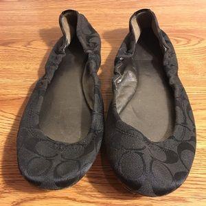 Coach Monogram Ballet Flats